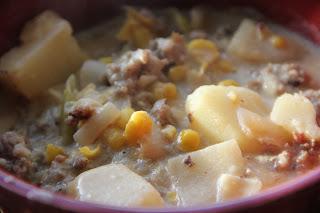 Sausage & Corn Chowder Recipe, Dinner Tonight: Sausage & Corn Chowder