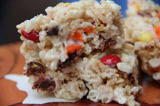 Candy Corn Rice Krispies Treats Recipe, Candy Corn Rice Krispies Treats