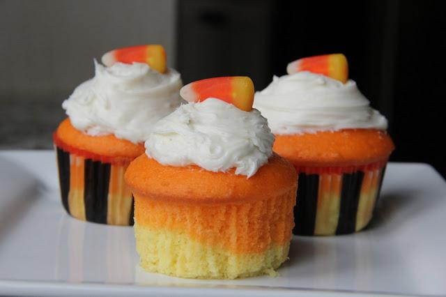 Candy Corn Cupcakes Recipe, Candy Corn Cupcakes