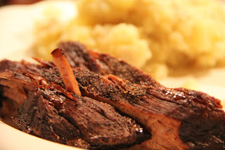 Brisket In The Slow Cooker With Smashed Potatoes Recipe, Dinner Tonight: Brisket in the slow cooker with smashed potatoes