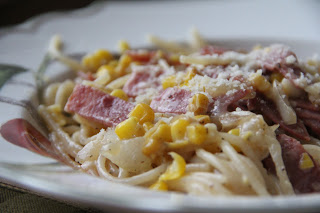 Pasta With Bacon And Corn Recipe, Dinner Tonight: Pasta with Bacon and Corn