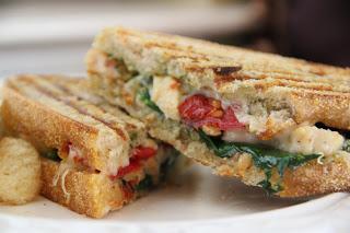 Pesto Chicken Paninis Recipe, Dinner Tonight: Pesto Chicken Paninis