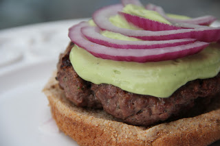Ranch Burgers With Avocado Ranch Sauce Recipe, Dinner Tonight: Ranch Burgers with Avocado Ranch Sauce