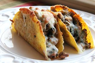Spinach Pesto Baked Tacos Recipe, Dinner Tonight: Spinach Pesto Baked Tacos