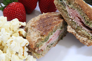 Ham & Swiss With Pesto Sandwiches Lunch Recipe, Lunch: Ham & Swiss with Pesto Sandwiches