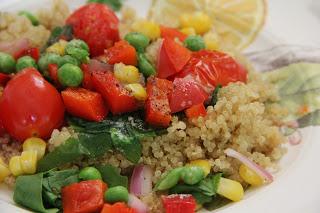 Veggie Quinoa (Or Rice) Lunch Recipe, Lunch: Veggie Quinoa (or rice!)