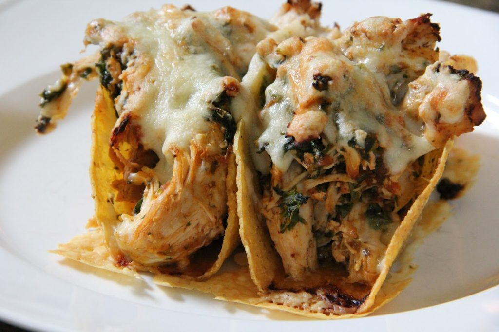 Spicy Chicken Baked Tacos Recipe, Dinner Tonight: Spicy Chicken Baked Tacos