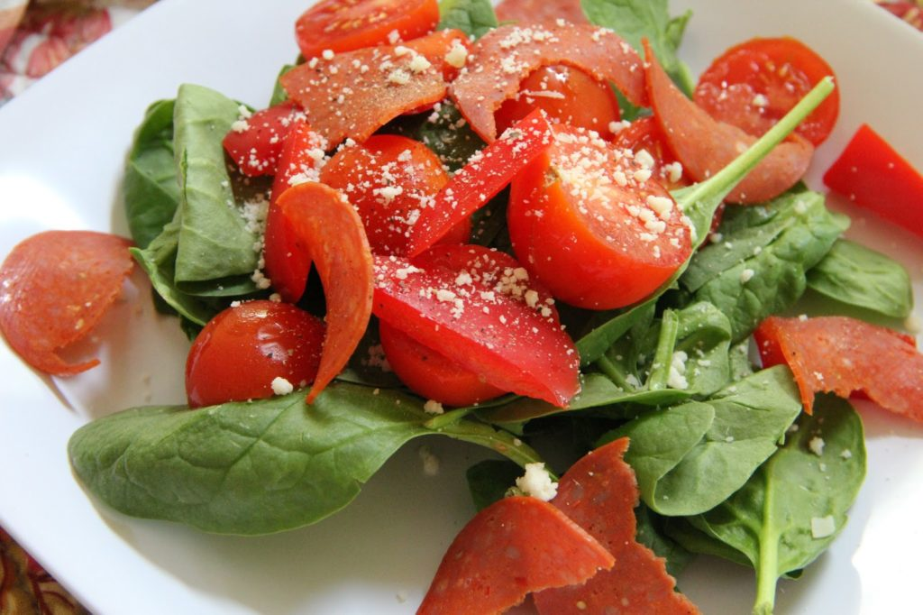 Pizza Salad Lunch Recipe, Lunch: Pizza Salad