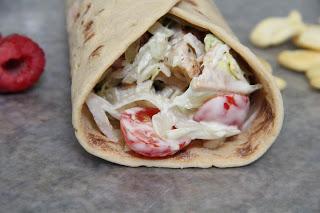 Chicken Wraps Lunch Recipe, Lunch: Chicken Wraps