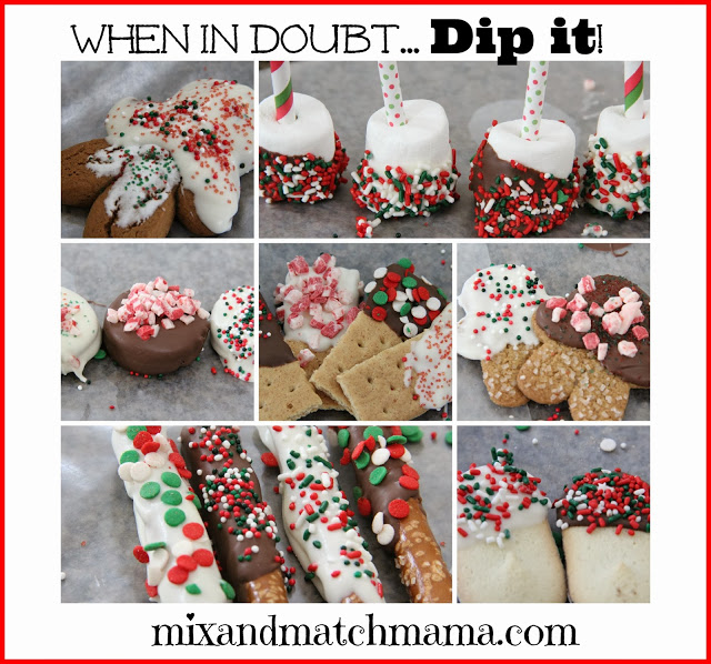 , On the 7th Day of Christmas: I dipped it…dipped it good!