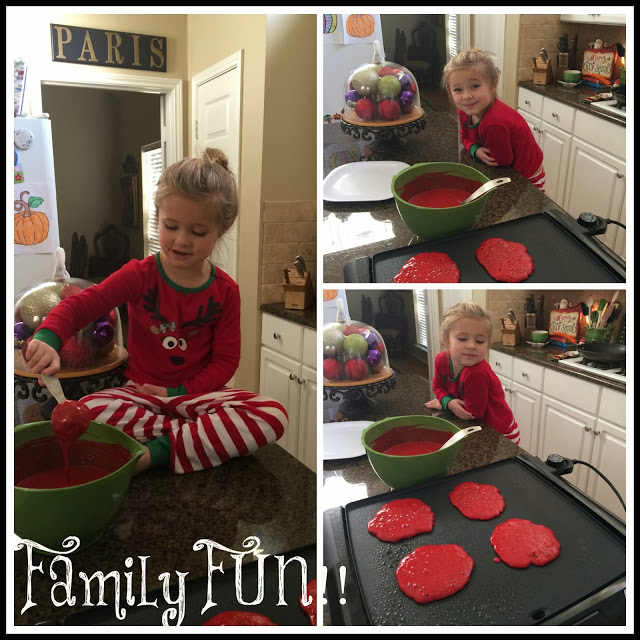 , On the 4th Day of Christmas: I whipped up a batch of festive Red Velvet Pancakes!