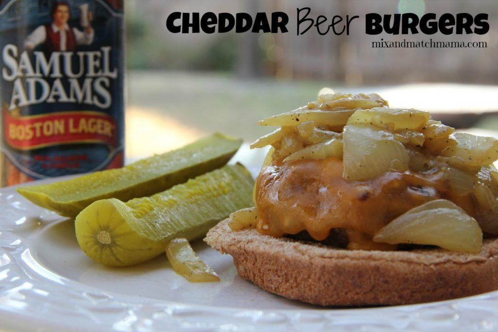 Cheddar Beer Burgers Recipe, Dinner Tonight: Cheddar Beer Burgers