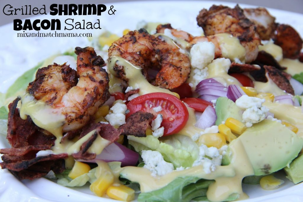 Grilled Shrimp And Bacon Salad Recipe, Dinner Tonight: Grilled Shrimp and Bacon Salad
