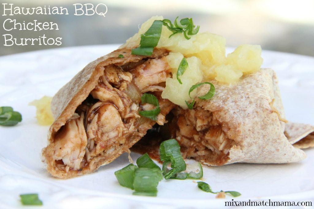 Hawaiian Bbq Chicken Burritos Recipe, Dinner Tonight: Hawaiian BBQ Chicken Burritos