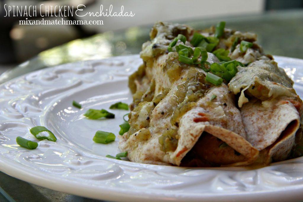 Spinach Chicken Enchiladas Recipe, Dinner Tonight: Spinach Chicken Enchiladas