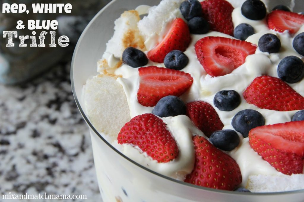 Red, White And Blue Trifle Recipe, Red, White and Blue Trifle