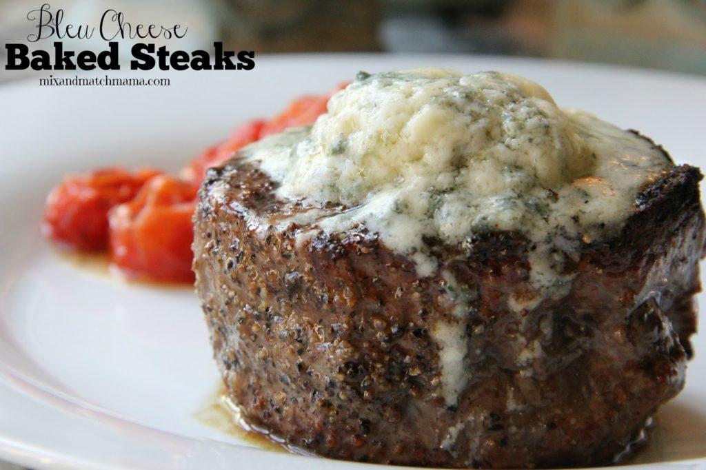 Bleu Cheese Baked Steaks Recipe, Dinner Tonight: Bleu Cheese Baked Steaks