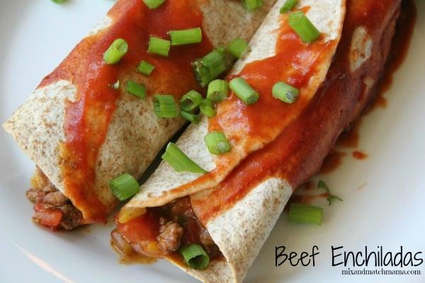 Beef Enchiladas Recipe, Dinner Tonight: Beef Enchiladas