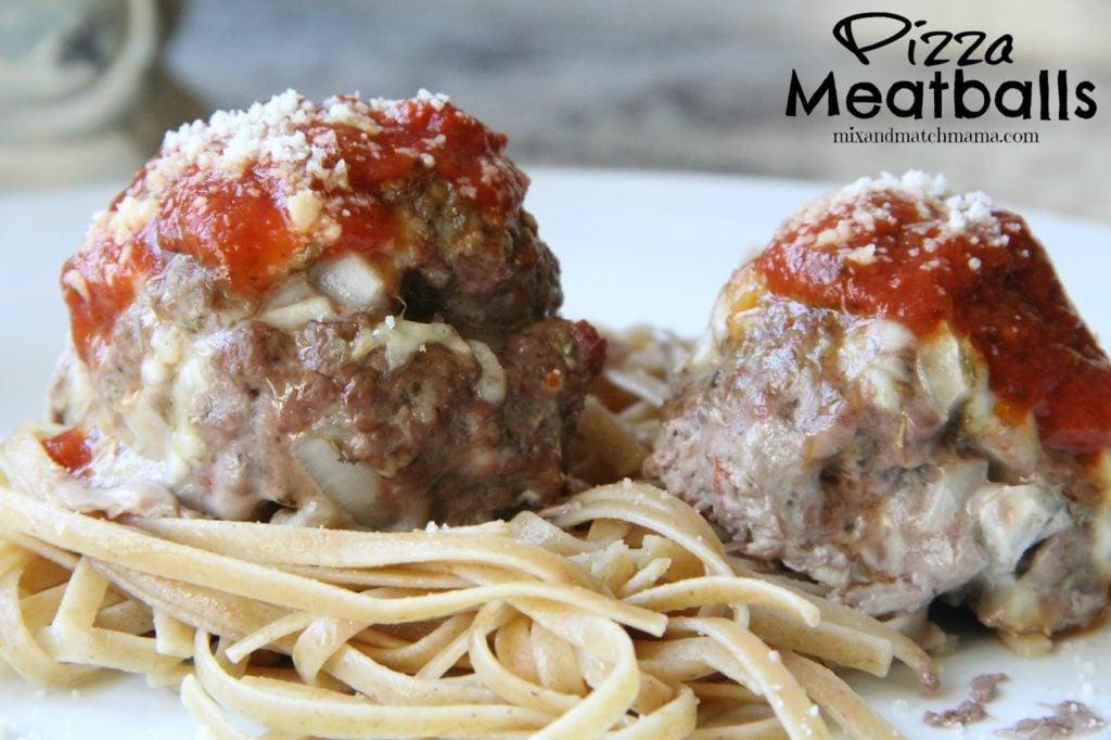 Pizza Meatballs Recipe, Dinner Tonight: Pizza Meatballs