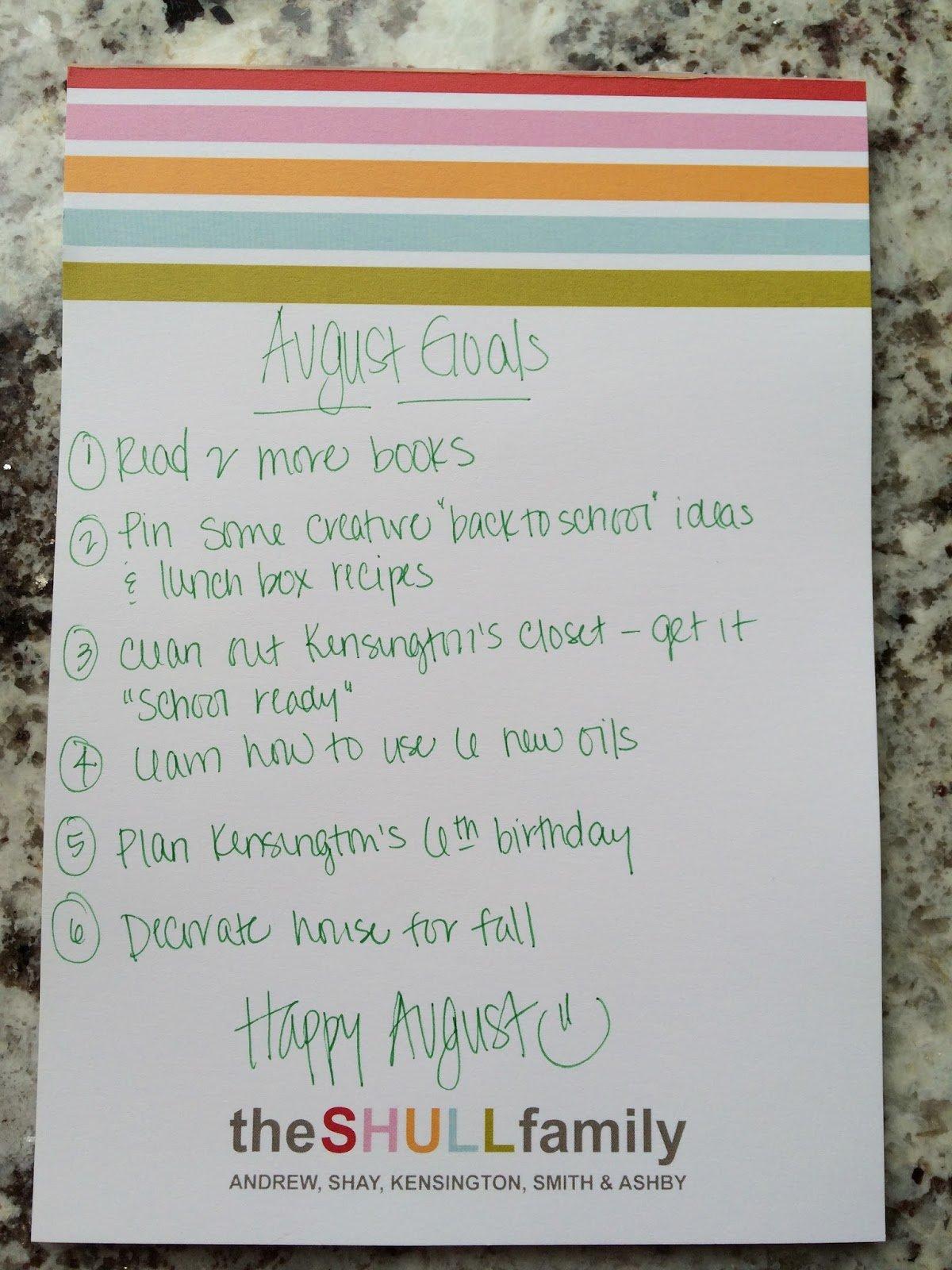 , September Goals
