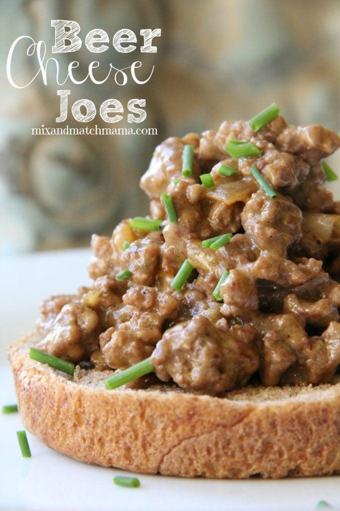 Beer Cheese Joes Recipe, Dinner Tonight: Beer Cheese Joes
