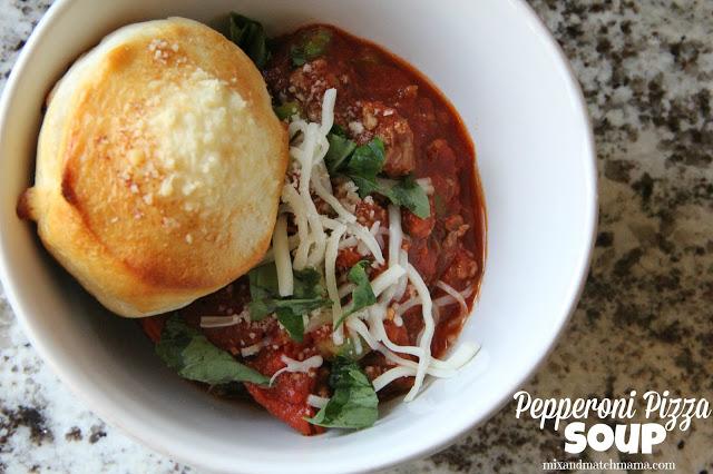 Pepperoni Pizza Soup Recipe, Dinner Tonight: Pepperoni Pizza Soup