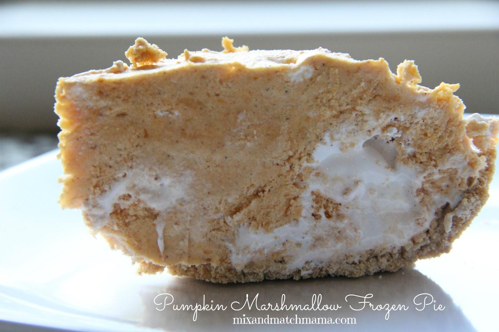 Pumpkin Marshmallow Frozen Pie Mix And Match Mama