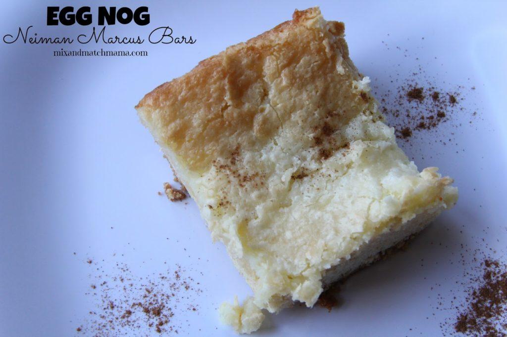 Egg Nog Neiman Marcus Bars Recipe, Bar #69: Egg Nog Neiman Marcus