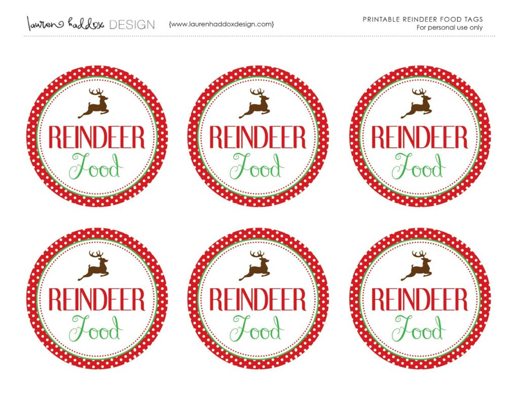 How To Make Reindeer Food Labels