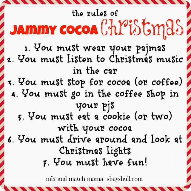 Jammy Cocoa Christmas Recipe, Jammy Cocoa Christmas!