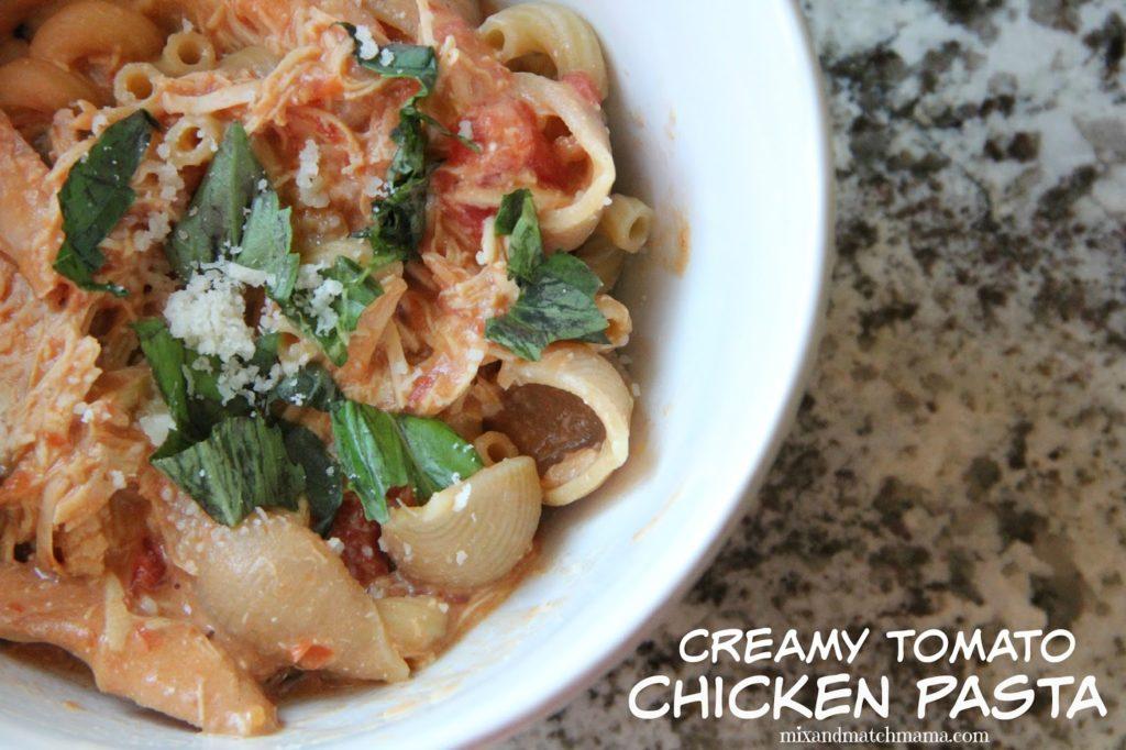 Creamy Tomato Chicken Pasta Recipe, Dinner Tonight: Creamy Tomato Chicken Pasta