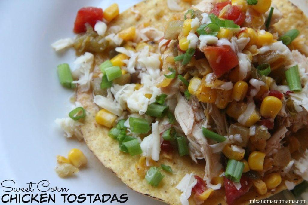 Sweet Corn Chicken Tostadas Recipe, Dinner Tonight: Sweet Corn Chicken Tostadas