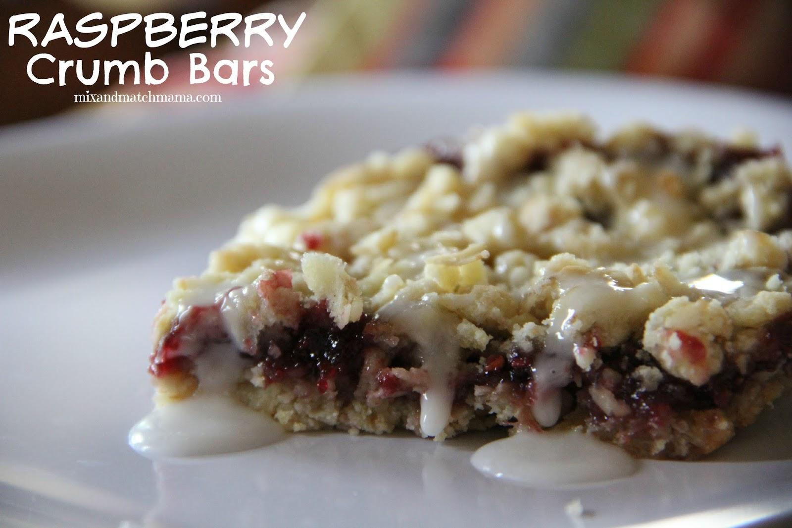 Bar #73: Raspberry Crumb | Mix and Match Mama