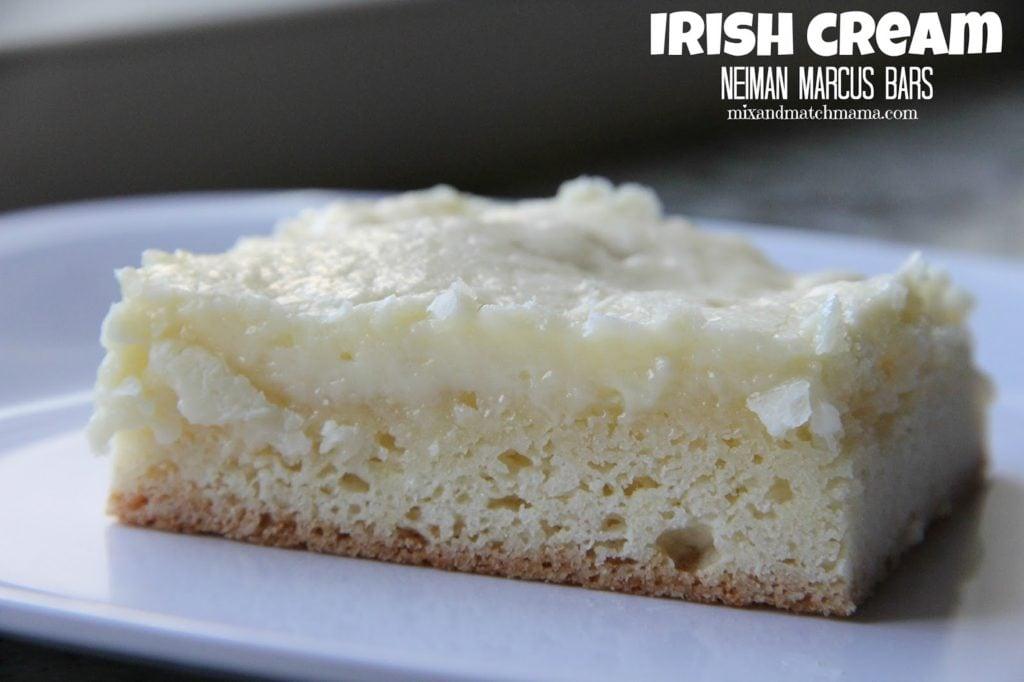 Irish Cream Neiman Marcus Bars Recipe, Bar #76: Irish Cream Neiman Marcus
