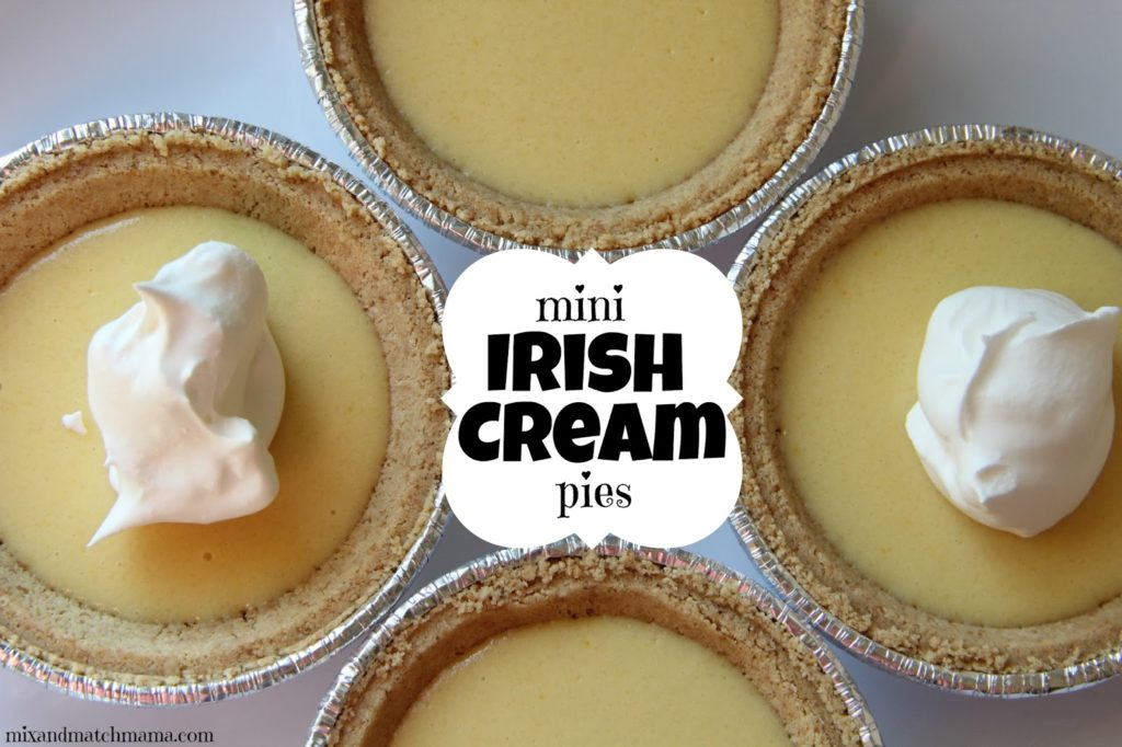 Mini Irish Cream Pies Recipe, Mini Irish Cream Pies