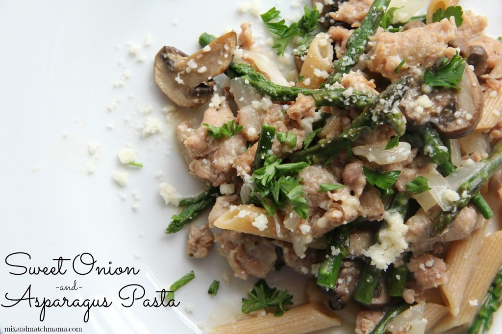 Sweet Onion & Asparagus Pasta Recipe, Dinner Tonight: Sweet Onion & Asparagus Pasta