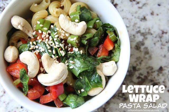 Lettuce Wrap Pasta Salad Recipe, Lettuce Wrap Pasta Salad
