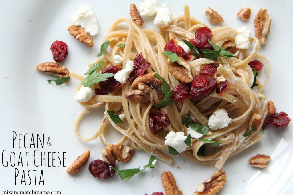 Pecan & Goat Cheese Pasta Recipe, Dinner Tonight: Pecan & Goat Cheese Pasta