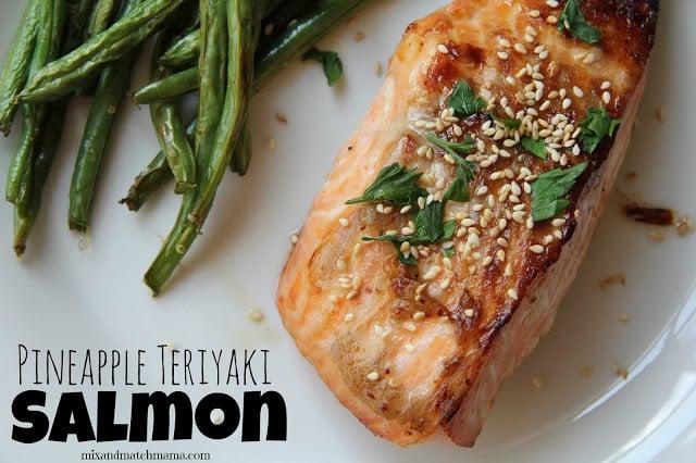 Pineapple Teriyaki Salmon Recipe, Dinner Tonight: Pineapple Teriyaki Salmon