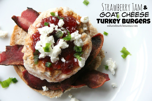 Strawberry Jam & Goat Cheese Turkey Burgers Recipe, Dinner Tonight: Strawberry Jam & Goat Cheese Turkey Burgers