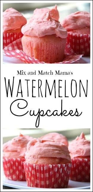 Watermelon Cupcakes Recipe, Watermelon Cupcakes