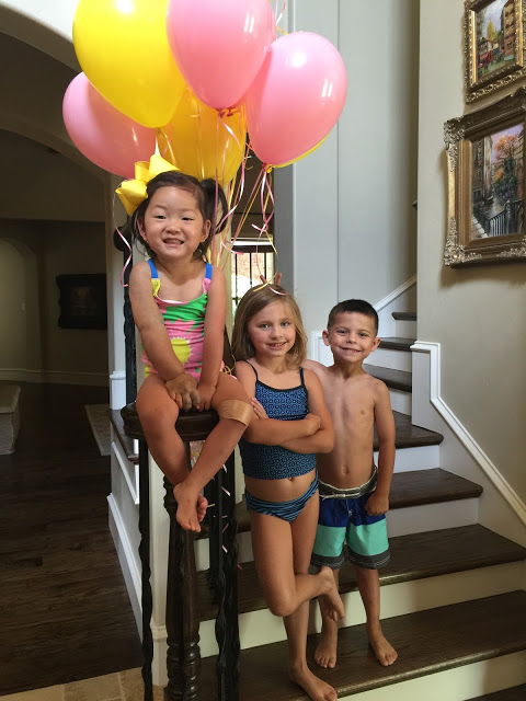 """, Ashby's """"You Are My Sunshine"""" Swim Party!"""