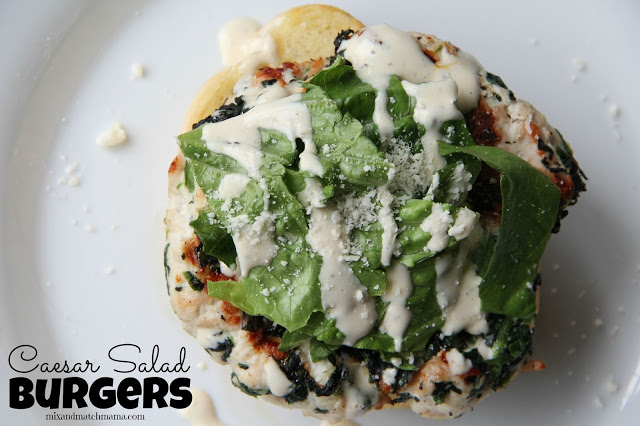 Caesar Salad Burgers Recipe, Caesar Salad Burgers
