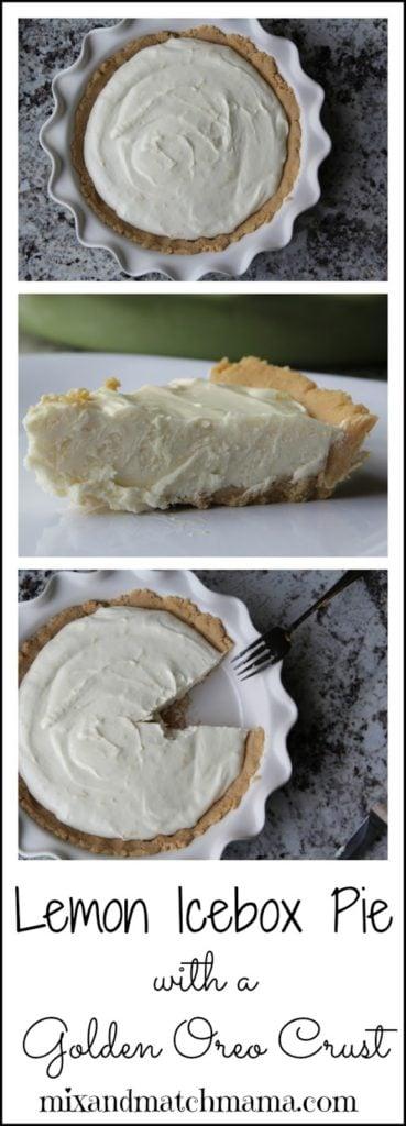 Lemon Icebox Pie With A Golden Oreo Crust Recipe, Lemon Icebox Pie with a Golden Oreo Crust