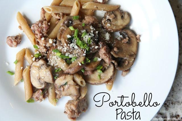 Portobello Pasta Recipe, Portobello Pasta