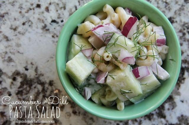 Cucumber And Dill Pasta Salad Recipe, Cucumber and Dill Pasta Salad