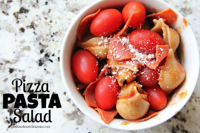Pizza Pasta Salad Recipe, Pizza Pasta Salad