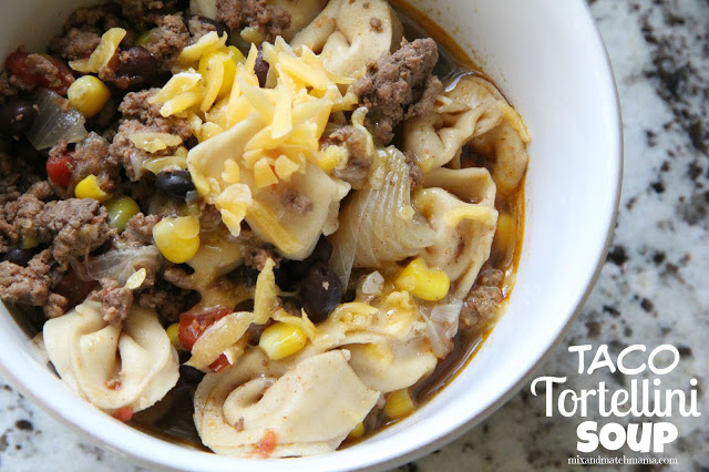 Taco Tortellini Soup Recipe, Taco Tortellini Soup