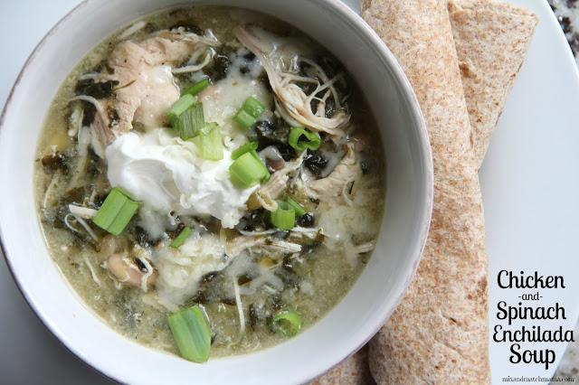 Chicken & Spinach Enchilada Soup Recipe, Chicken & Spinach Enchilada Soup