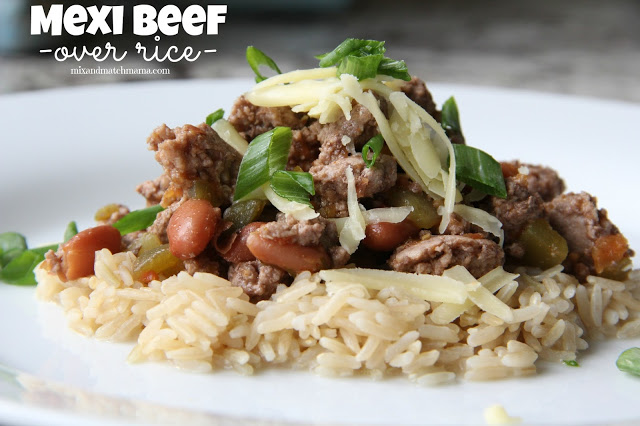 Mexi Beef {Over Rice} Recipe, Mexi Beef {over rice}